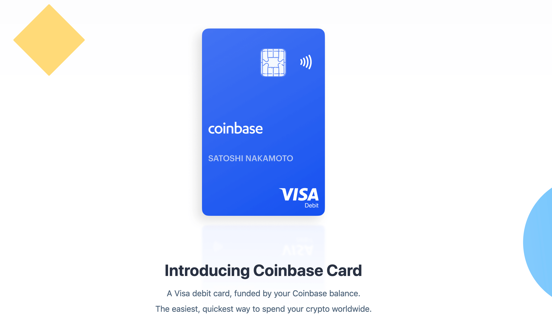 Дебетовая карта Coinbase
